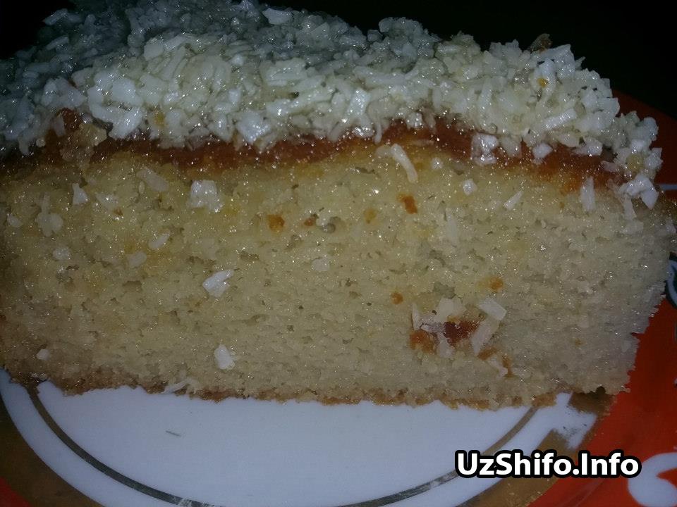 глютенсиз кокосли торт - kokosli tort glyutensiz